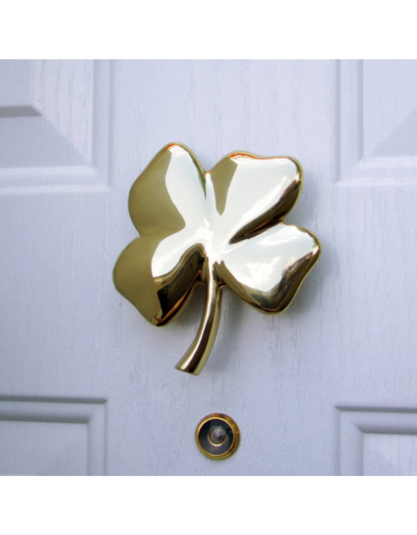 Michael Healy Designs Four Leaf Clover Brass Door Knocker