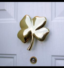 Four Leaf Clover Brass Door Knocker