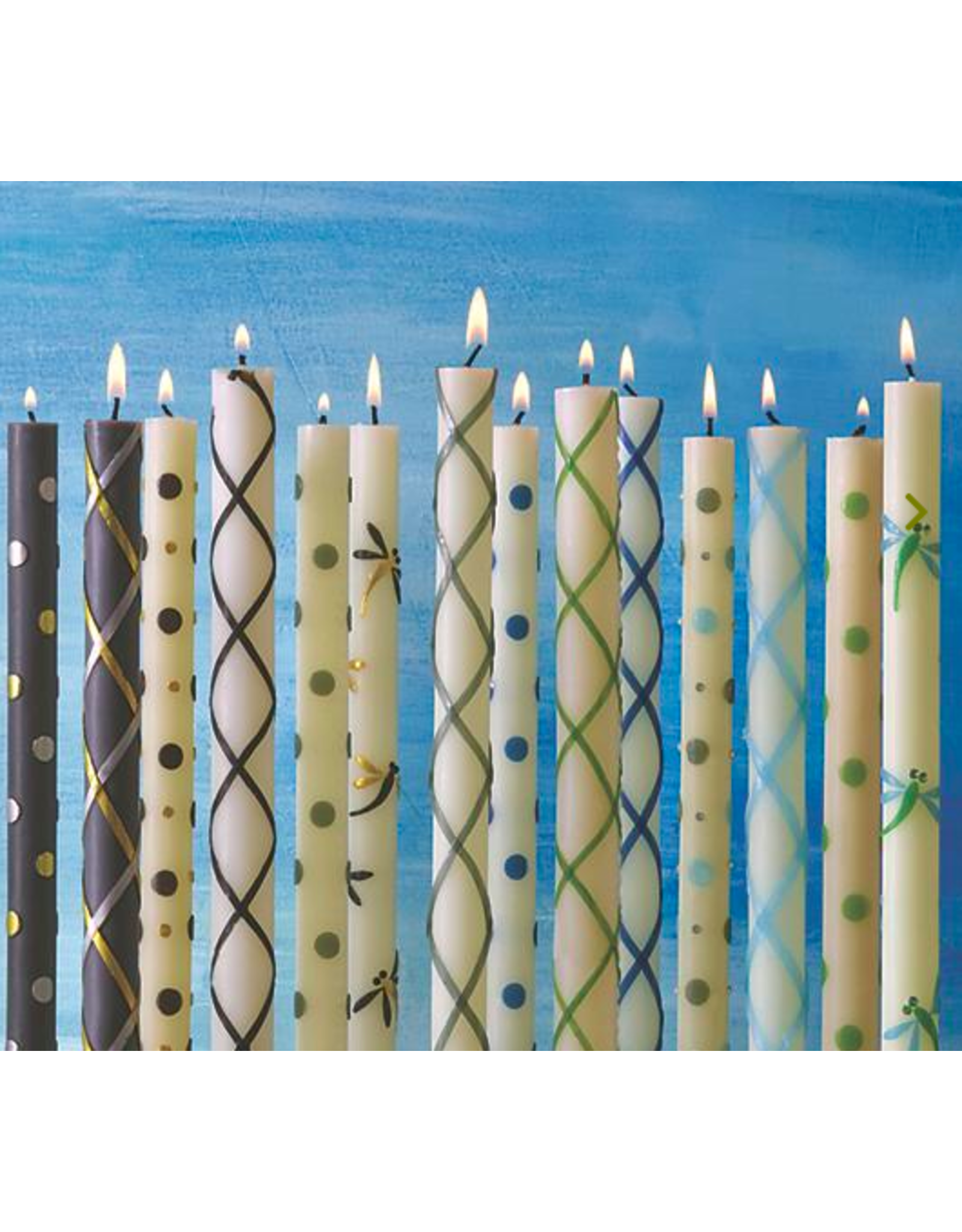 MacKenzie Childs Dot Dinner Candles in Navy by MacKenzie-Childs