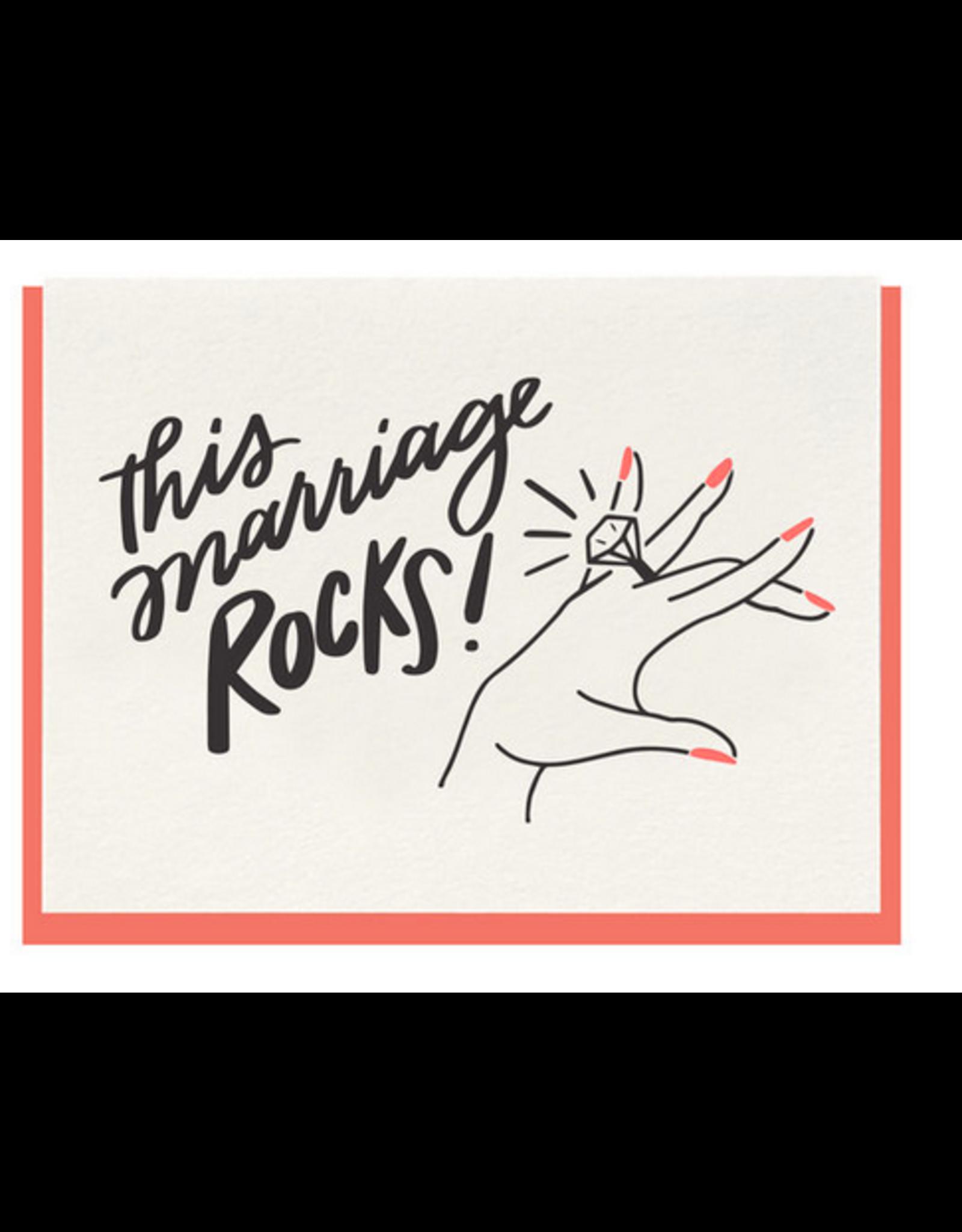 Dahlia Press This Marriage Rocks Card