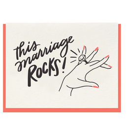 Dahlia Press This Marriage Rocks Card