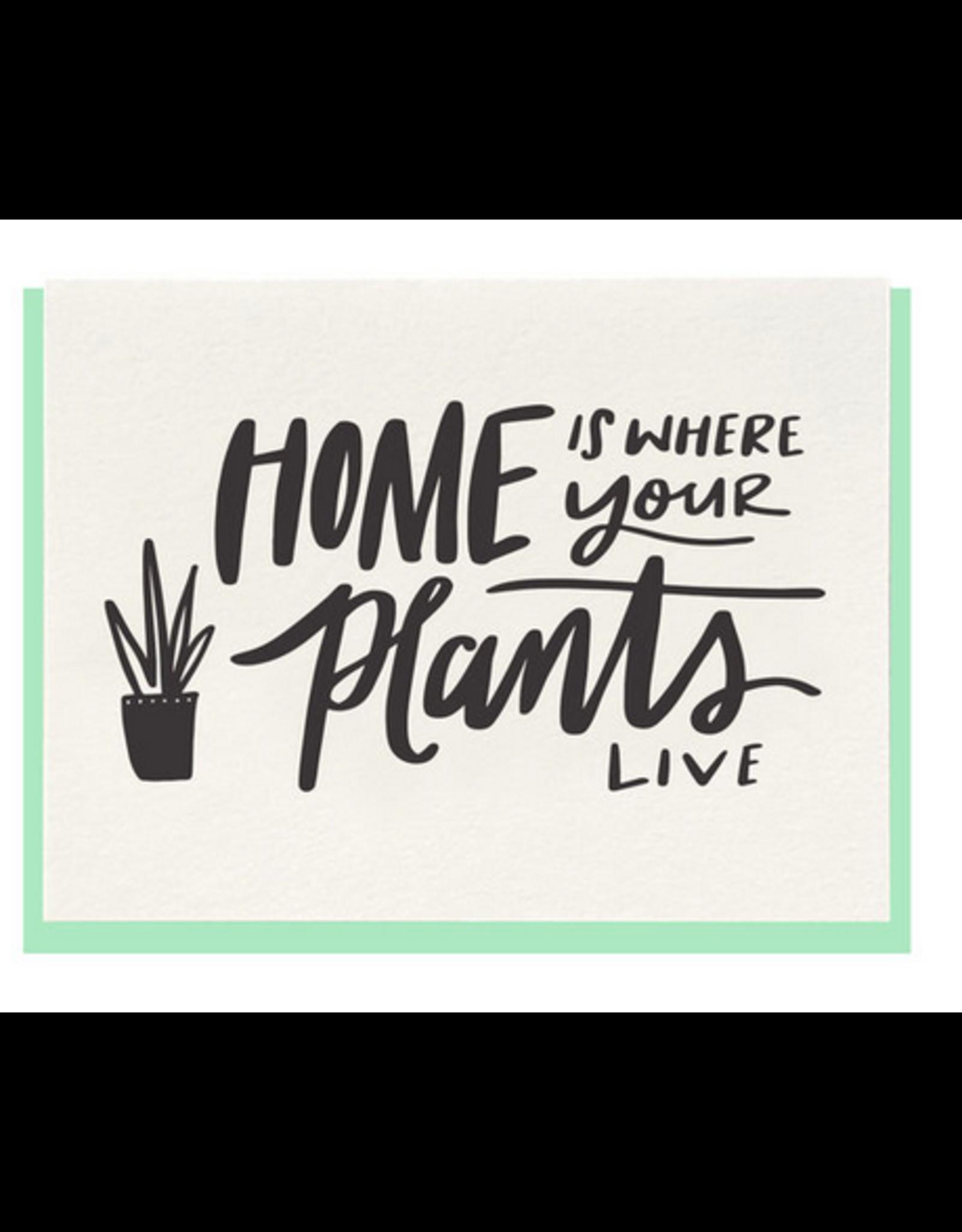 Dahlia Press Home Plants Card