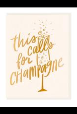 Dahlia Press Champagne Card