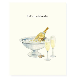 Felix Doolittle Champagne and Flutes Card