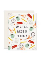 Office Miss You Card