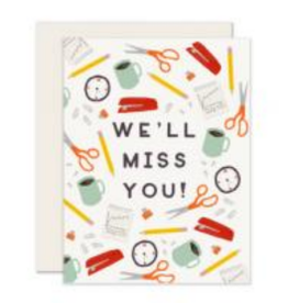 Slightly Stationery Office Miss You Card
