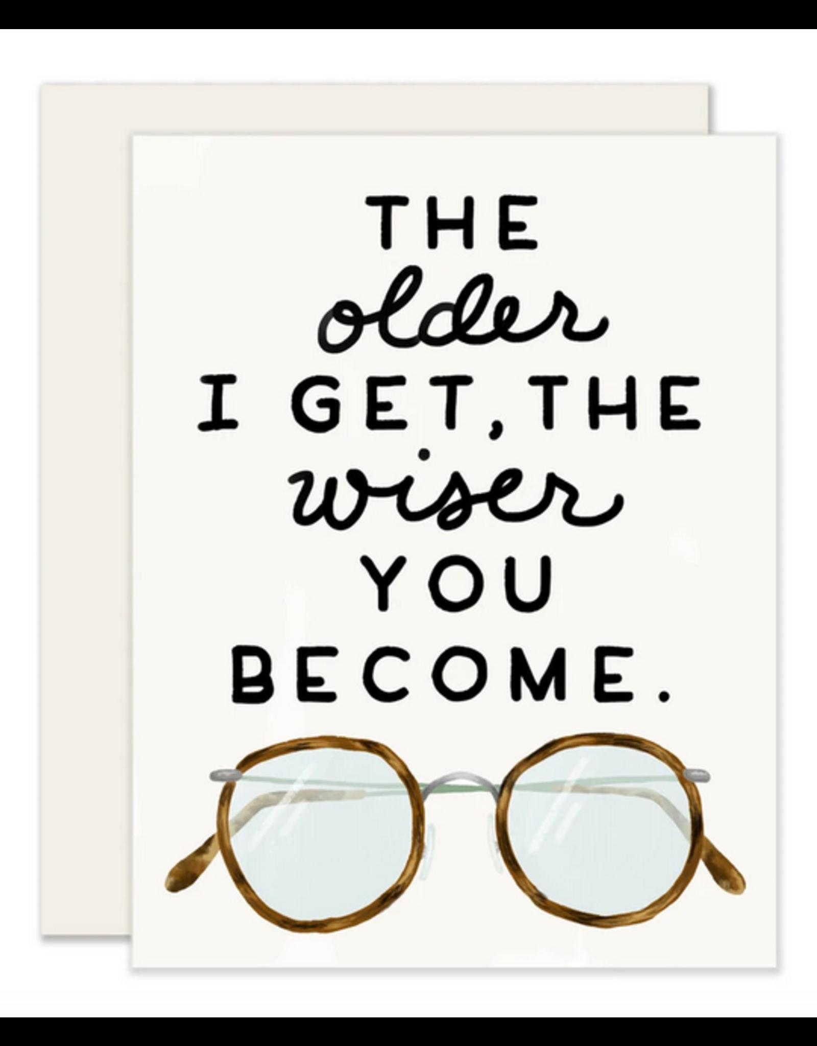 Slightly Stationery Older & Wiser Card