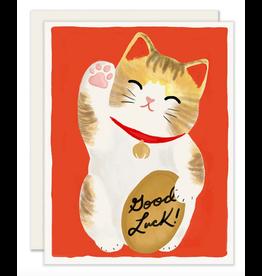 Slightly Stationery Maneki Neko Card