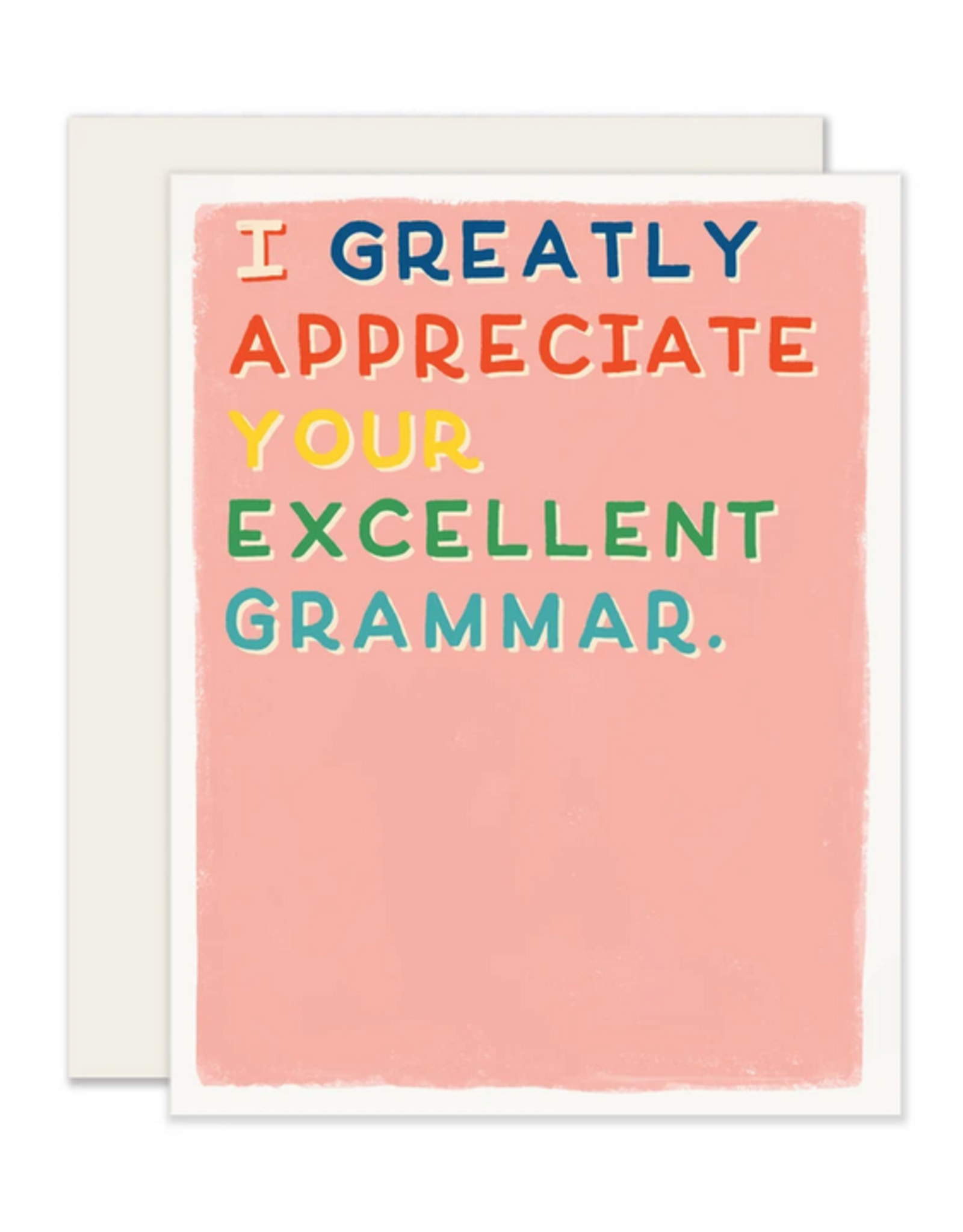 Excellent Grammar Card