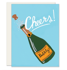 Slightly Stationery Champagne Cheers Card