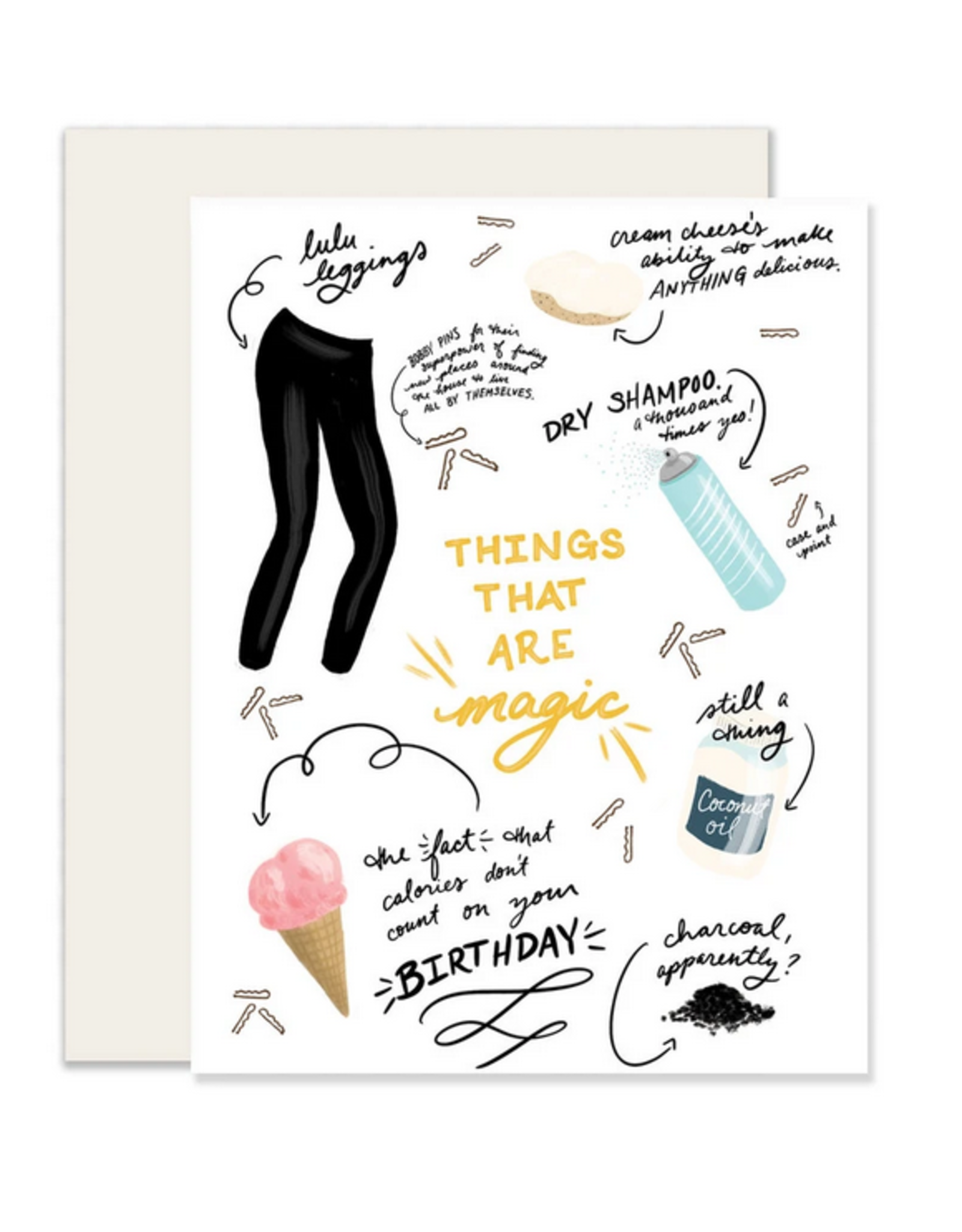 Slightly Stationery Magic Things Card