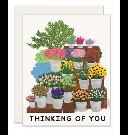 Slightly Stationery Flower Market Card