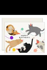 Slightly Stationery Cats Card