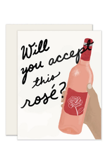 Slightly Stationery Will You Accept This Rose Card