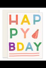 Slightly Stationery Colorful B-Day Card