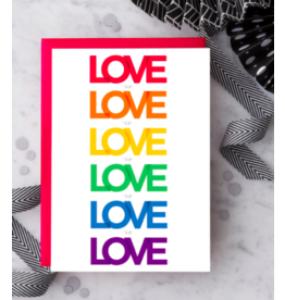 Design With Heart Love Is Love Is Love Card