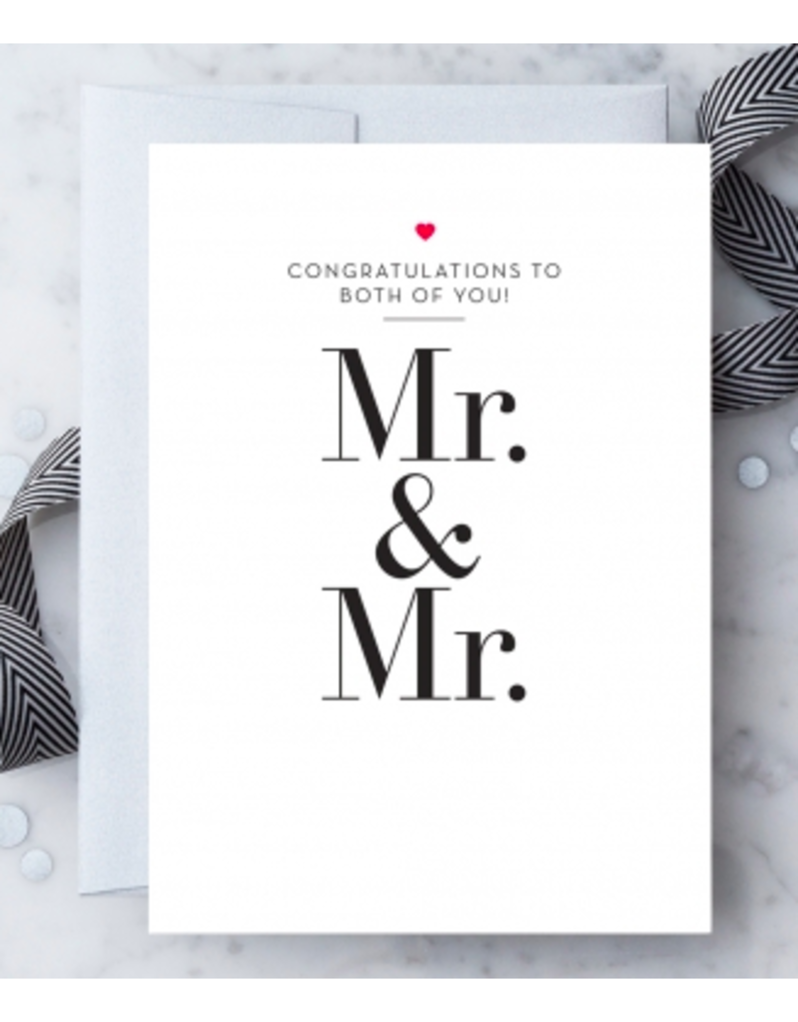 Design With Heart Mr. & Mr. Card