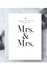 Design With Heart Mrs. & Mrs. Card