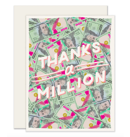Slightly Stationery Thanks a Million Card