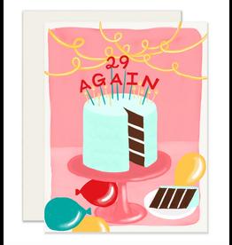 Slightly Stationery 29 Again Card