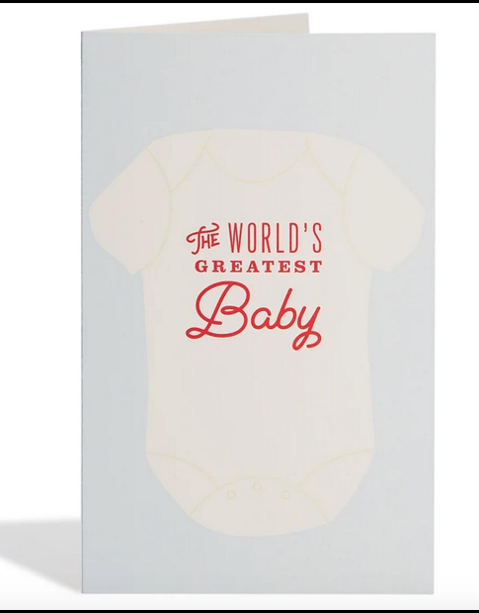 Snow & Graham Greatest Baby Onesie Card
