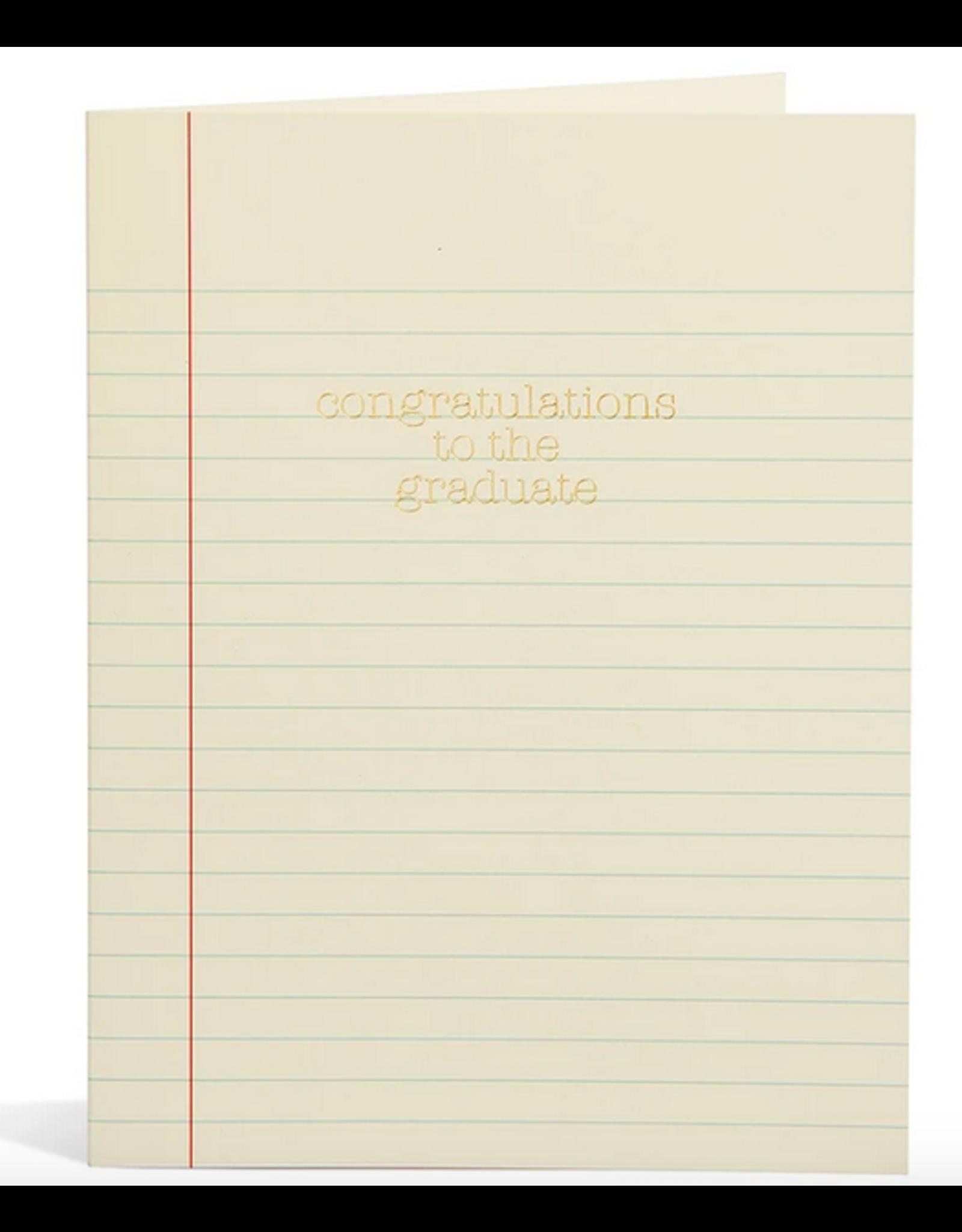 Snow & Graham Grad Paper Card