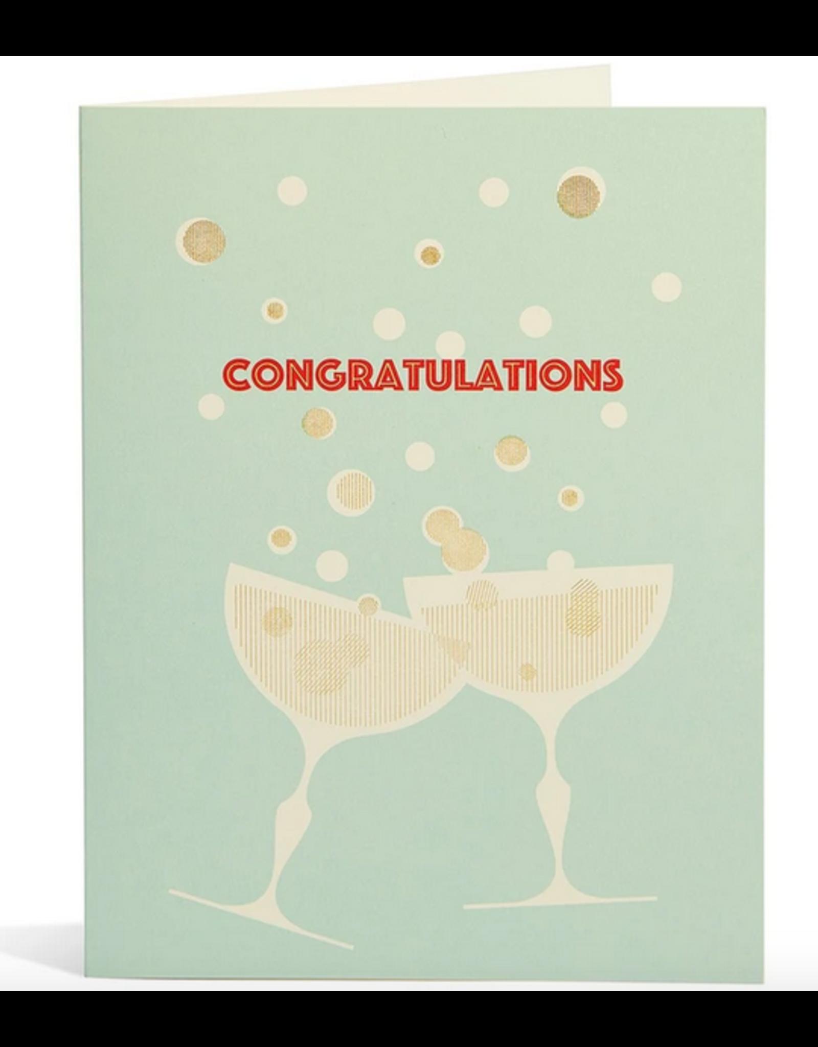 Snow & Graham Congrats Champagne Card