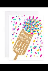 9th Letterpress Confetti Pop Card