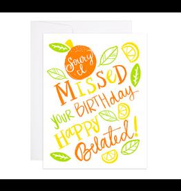 9th Letterpress Sour-y Birthday Card