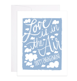 9th Letterpress Love is In The Air Card