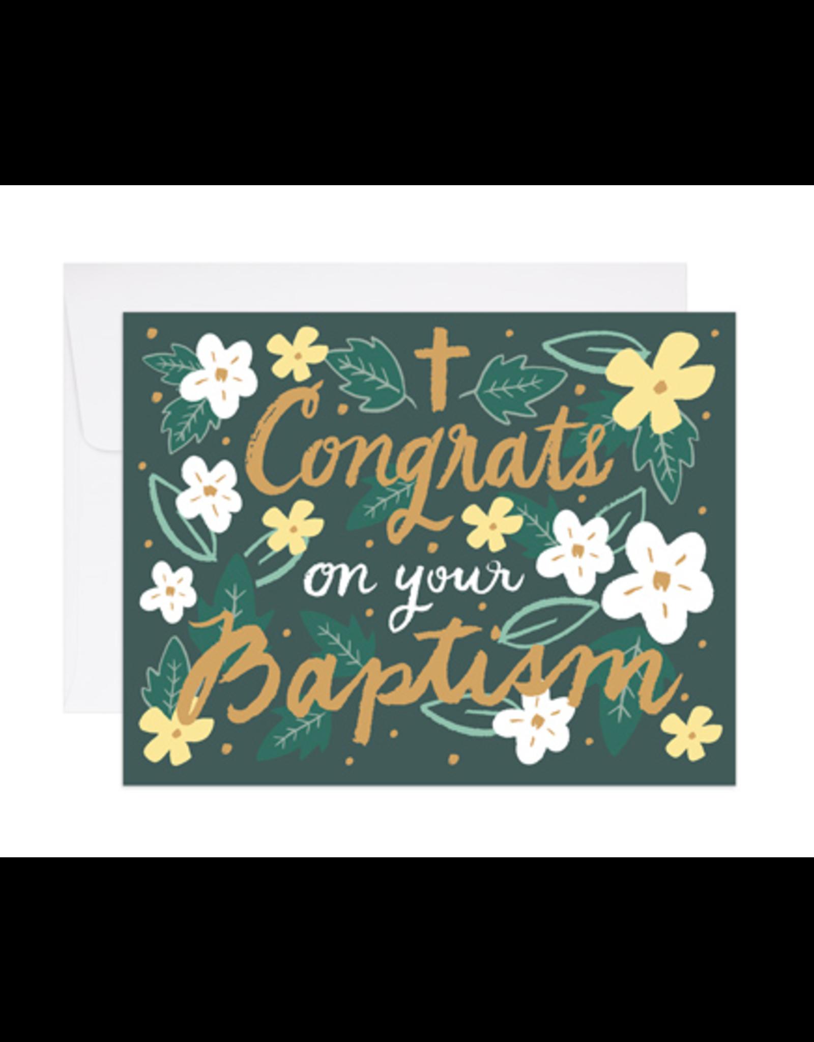 9th Letterpress Baptism Congrats Card