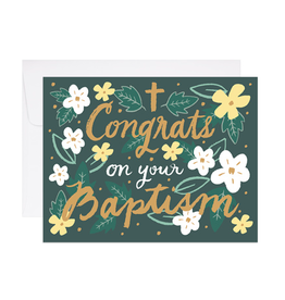 9th Letterpress Baptism Congrats Card