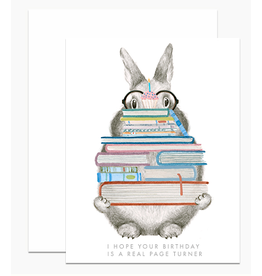 Dear Hancock Page Turner Bunny Card
