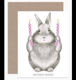 Dear Hancock Birthday Wishes Bunny Card