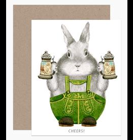 Dear Hancock Cheers Bunny Card