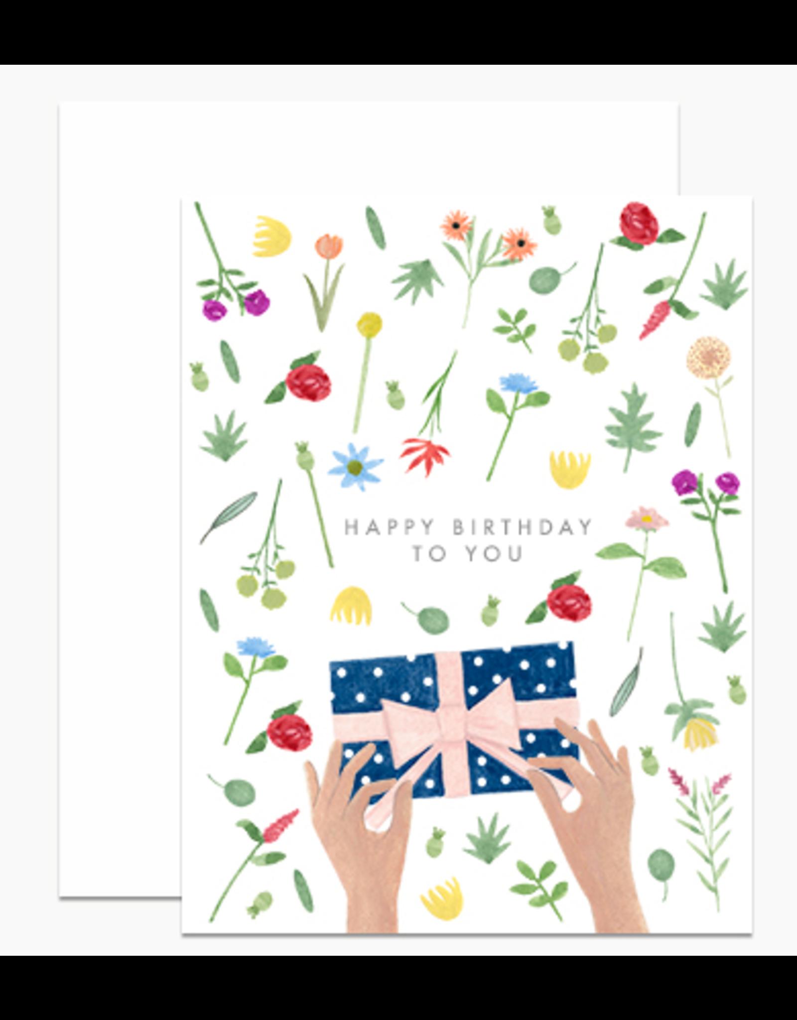 Dear Hancock Wrapping Present Card