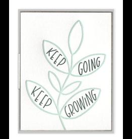 Keep Going Keep Growing Card