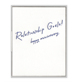 Relationship Goals Anniversary Card
