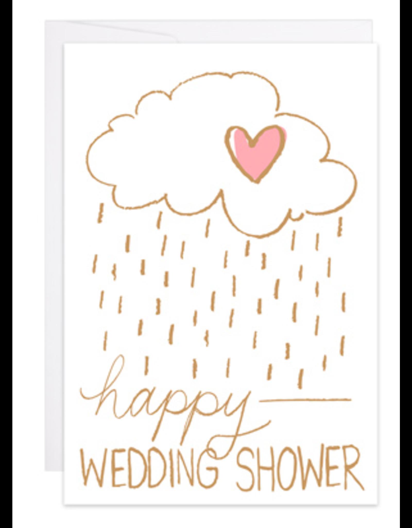 9th Letterpress Happy Wedding Shower Mini Card