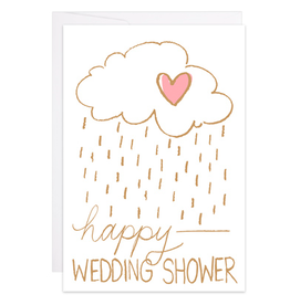 9th Letterpress Happy Wedding Shower Mini Card