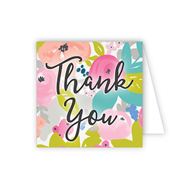 Thank You Bright Floral Enclosure Card