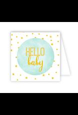 Hello Baby Blue Enclosure Card