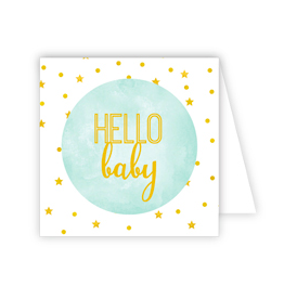Hello Baby Blue Enclosure Card