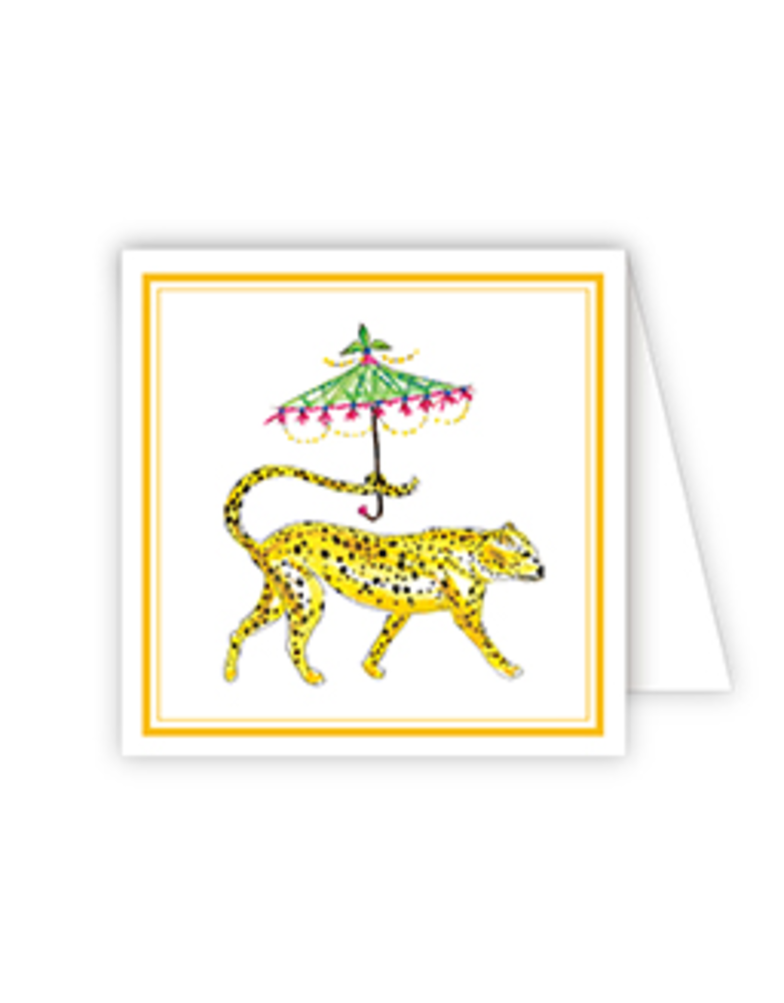 RoseanneBECK Collection Dressed Up Cheetah Enclosure Card