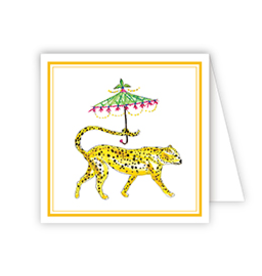 Dressed Up Cheetah Enclosure Card