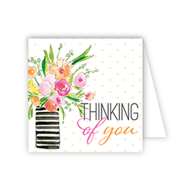 Thinking of You Vase Flowers Enclosure Card