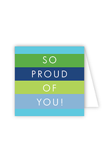 So Proud Blue Green Enclosure Card