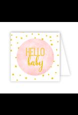 Hello Baby Pink Enclosure Card