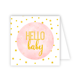 RoseanneBECK Collection Hello Baby Pink Enclosure Card