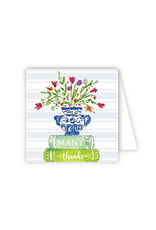 RoseanneBECK Collection Many Thanks Books Enclosure Card